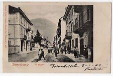 CARTOLINA 1903 ITALY DOMODOSSOLA VIA GALETTI RIF 4605