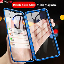 For Samsung Galaxy M31 M30S M21 Magnetic Metal Bumper Case 360° Glass Full Cover