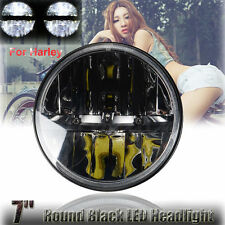 2x 7 inch 80W H4 Round LED Headlight for 98-15 Jeep Wrangler JK CJ TJ Work Light
