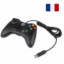 Filaire Contrôleur Manette Controllers Gamepad pour Microsoft Xbox 360 PC Noir