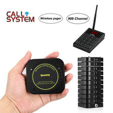 Wireless Paging Equipment +10Coaster Pagers Fast Food Restaurant Table Alarm