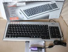 Trust PC Computer Slimline Aluminium Tastatur Spanisch NEU Espanol Keybord PS