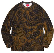 Supreme Waves Long Sleeve Top Crewneck Shirt (Size Medium) Box Logo In Hand