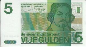 Niederlande  5 Gulden  1973  kassenfrisch