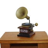 FP- BE_ FE- CA_ FP- BU_ HN- Dollhouse Miniature Mini Retro Gramophone Model Toy