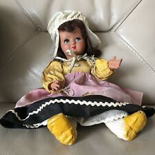 Unica Doll Belgian Belgium Vintage China Composition Silk Dress Shoes Character