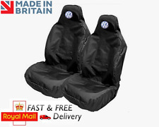 VOLKSWAGEN VW RECARO SPORTS BUCKET SEAT COVERS PROTECTORS BLACK HEAVY DUTY NEW