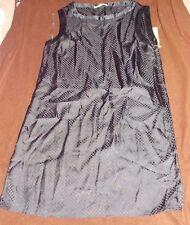 Gianni Bini Blake GLAM ROCKS Dots Black Dress 10 For Women