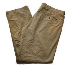 Hurley Tan Khaki Dress Pants Cotton Blend Activewear Flat Front Men Size 38x30