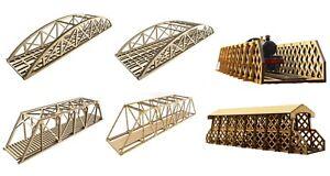 WWS MDF Single/Double Track Bridge Selection - Model Railway Scenery HO/OO Gauge