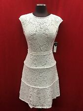 SANDRA DARREN DRESS/NEW WITH TAG/SIZE 8/RETAIL$129/ LENGTH 39'/OFF WHITE LACE