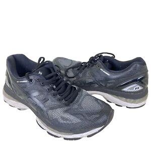 ASICS GEL-Nimbus 19 Men's Size 9.5 Running Shoes T700N-9701 Carbon White Silver