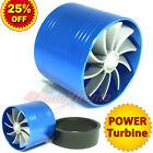 "64-74mm 2.5-2.9"" TURBO CHARGER Turbonator AIR INTAKE TURBINE Fuel Saver Fan BLUE"