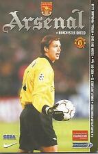 Football Programme - Arsenal v Manchester United - Premiership - 25/11/2001