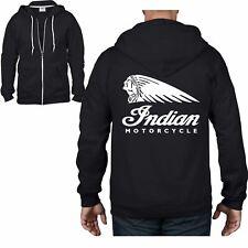 Indian Motorcycle Full Zip Hoodie - Bike Biker T-Shirt Motorbike Caf� Racer