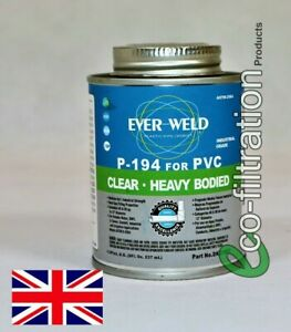 PLASTIC PIPE CEMENT FOR ALL SOLVENT WELDED FITTINGS IN A KOI FISH POND FILTER