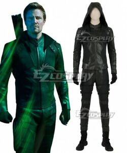DC Arrow Season 8 Oliver Queen Green Arrow Cosplay Costume no shoes