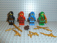 LEGO® Ninjago 4 Ninjas Anacondrai Cole Jay Kai und Lloyd mit Waffen 70749 NEU