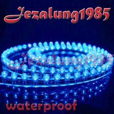 2X48CM Under car Strip 48 LED Bulb neon Light 12V BLUE
