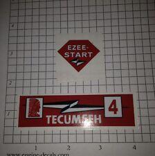 Tecumseh 4-hp decal H40 Lightning bolt Ezee-Start TR40