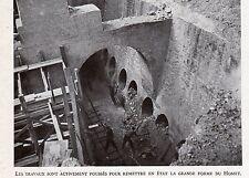 50 CHERBOURG TRAVAUX REMISE EN ETAT GRANDE FORME DU HOMET IMAGE 1948 OLD PRINT