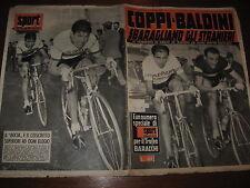 LO SPORT ILLUSTRATO GAZZETTA 1957/45 SUPPLEMENTO COPPI BALDINI TROFEO BARACCHI