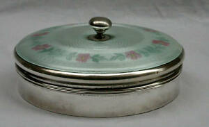MAGNIFICENT STERLING SILVER ENAMELED COVERED BOX