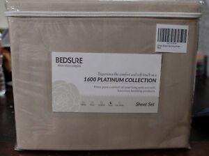 Bedsure 1600 Platinum Collection Set (New) King Size; Stripe Khaki design