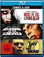 Zombie 3er Box Blu Ray FSK 18 Neu/OVP Dawn of the Dead + Day of the Dead + Night