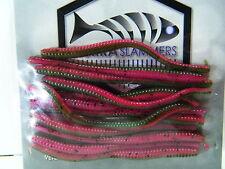 "TROUT Worms Soft Plastic SIERRA SLAMMERS 2.5"" Trout Worm Fishing Bait 12 piece"