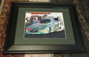 """Framed / Matted Autographed 8"""" x 10"""" Photo of NHRA John Force and GTX Funny Car"""
