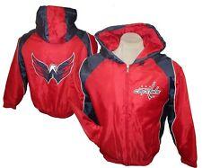 Washington Capitals Men's Full Zip Hooded Winter Jacket NHL, Red, G-III  Size L