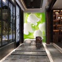 3D Fleur De Rosée 2 Photo Papier Peint en Autocollant Murale Plafond Chambre Art