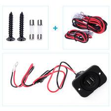 2 DOPPIA USB presa accendisigari auto accendisigari caricabatteria+fusibili