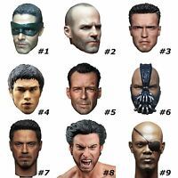 """1/6 Scale Famous Movie Character Men Head Sculpt For 12"""" Male Body Figure Toys"""