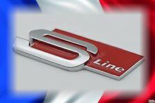 logo sigle Audi S-line, emblem car boot Sline, coffre, neuf, rouge,tout modèle