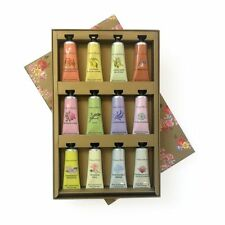 CRABTREE AND EVELYN HAND THERAPY GOLD BOX SET 12 HAND CREAMS & KEY BNIB