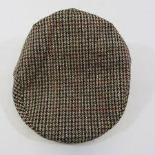 Mens Adults Flat Cap Tweed Farmers Brown Derby Vintage Peaky Blinders 56-62cm 14