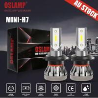 2X IRONWALLS H7 LED Headlights Kit 72W LOW Beam Globe Bulb Replace Halogen Xenon