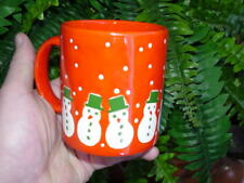 Waechtersbach ceramic MUG - CHRISTMAS SNOWMAN - red