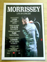 MORRISSEY : LIVE IN CONCERT  : A4 GLOSSY REPO POSTER