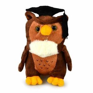 Korimco 16cm My Beany Graduation Owl Kids Soft Plush Stuffed Toy Brown 3y+