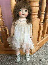 "20"" Pretty Unknown Antique Compo Girl Horsman Doll w/ tagged dress Unusual mark"