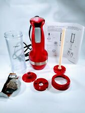 Red Cuisinart Electric Cookie Press 12 Discs and 8 Decorating Tips CCP-10MR
