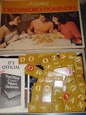 1975 Selchow & Righter Scrabble Crossword Dominoes ~ Letters Instead of Numbers