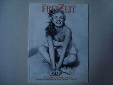 Marilyn Monroe FREIZEIT KURIER austrian magazine young Norma Jeane