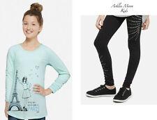 NWT JUSTICE Girls 14 Mint Paris Long Sleeve Top & Rhinestone Leggings Outfit
