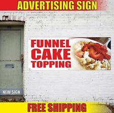 Funnel Cake Topping Advertising Banner Vinyl Mesh Decal Sign Served Pie Bakery