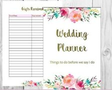 Printable Wedding Planner - Planning Kit and Checklists with Personalised Cover