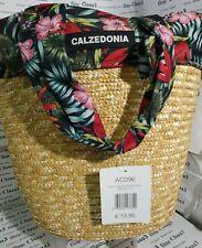 NUOVA BORSA  Calzedonia PAGLIA da Spiaggia mare motivo fiori fiore multicolor